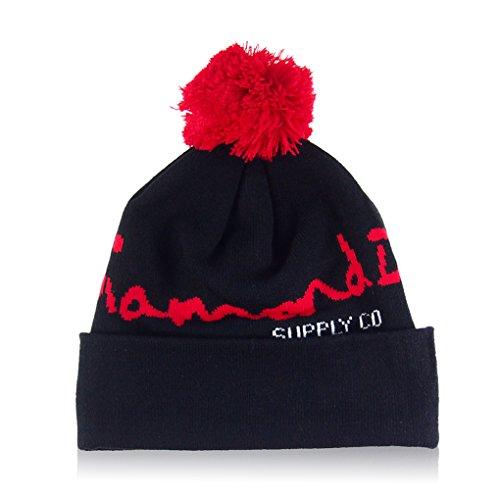 MuLuo Soft Winter Autumn Knit Cap Diamond Pattern Hip-Pop Beanie Hat (Diamond Knitting Pattern)