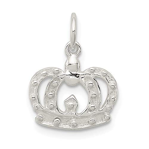 (925 Sterling Silver Crown Pendant Charm Necklace Fine Jewelry Gifts For Women For Her)