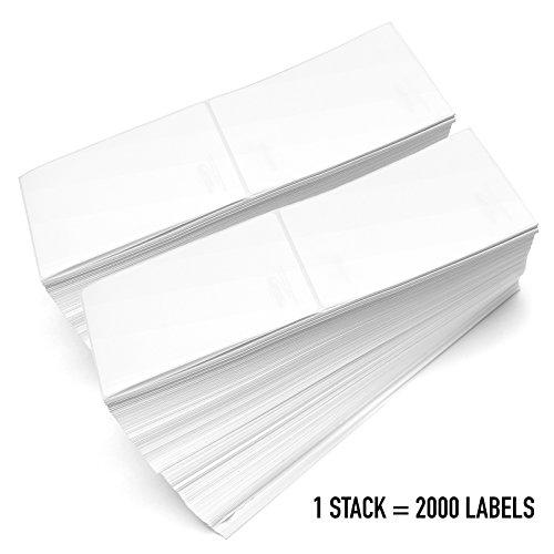 PacificMailer 2 Stacks Fanfold 4 x 6 Direct Thermal Labels 4000 Labels for Zebra, Elton (2000 Labels per Stack)