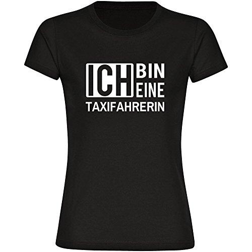 T-Shirt ich bin eine Taxifahrerin schwarz Damen Gr. S bis 2XL