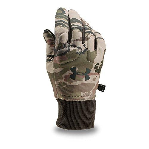 Under Armour Men's Scent Control Armour Fleece 2.0 Gloves, Ridge Reaper Camo Ba/Cannon, - Under Hunting Armour Gloves