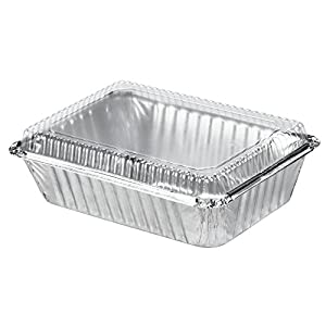 Amazon Com 2 1 4 Lb Rectangular Foil Pan With Clear Dome