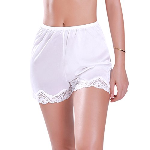 Lace Nylon Skirt - Ilusion 1017 - Classic Lace Hem Skirt Slip - Beige, Large 18