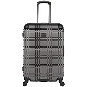 Ben Sherman Nottingham 3-Piece Lightweight Hardside 4-Wheel Spinner Travel Luggage Set: 20″ Carry-On, 24″, & 28″, Charcoal
