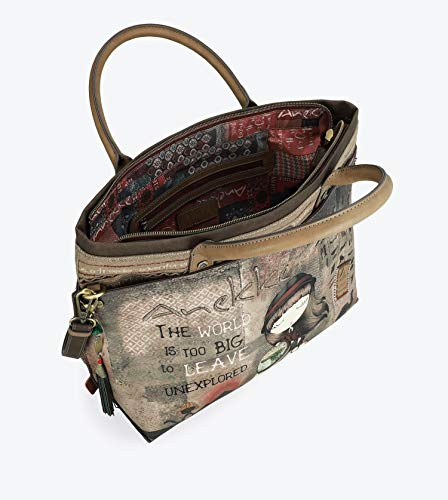 Anekke Egypt Tote Bag Bolso Marrón The World Is Too Big ...