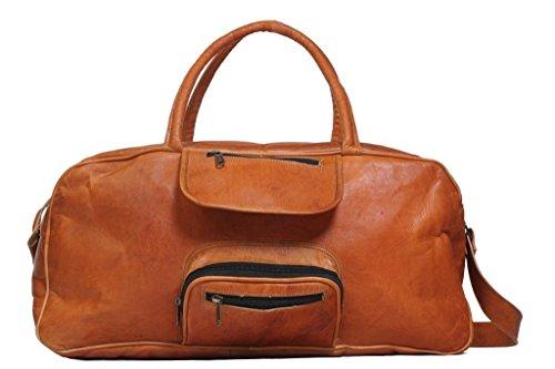 pranjals house Vintage Brown Leather Handmade Duffle Bag  Dark Color
