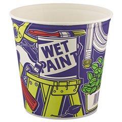 ** Double Wrapped Paper Bucket, Unwaxed, White, 165oz, 100/Carton