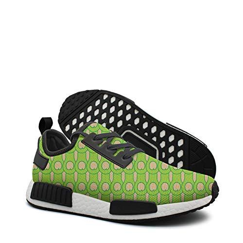Pduiqo Green Mini Avocado Men's Hip hop Lightweight Basketball Sneakers Gym Outdoor Boat Shoes by Pduiqo