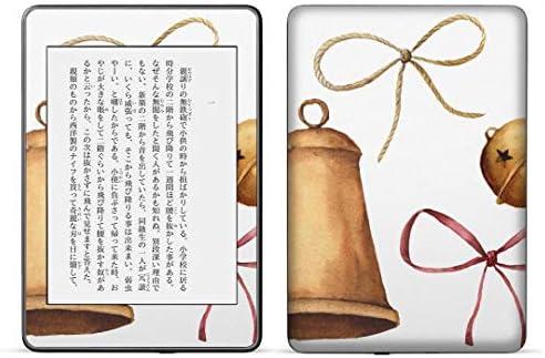 igsticker kindle paperwhite 第4世代 専用スキンシール キンドル ペーパーホワイト タブレット 電子書籍 裏表2枚セット カバー 保護 フィルム ステッカー 015874 ベル クリスマス 鈴