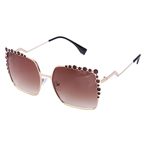 Vintage marron Big Negro Mirror de Gradient TOOGOO Gafas Square Fashion Ladies Mujeres de Gafas sol Sol gran tamano Eyewear de Mujer UV400 w6OwFq1