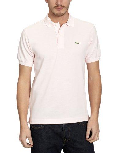Lacoste Herren Regular Fit Poloshirt L1212 Einfarbig, rosa (Flamant), M (Herstellergröße: 4)