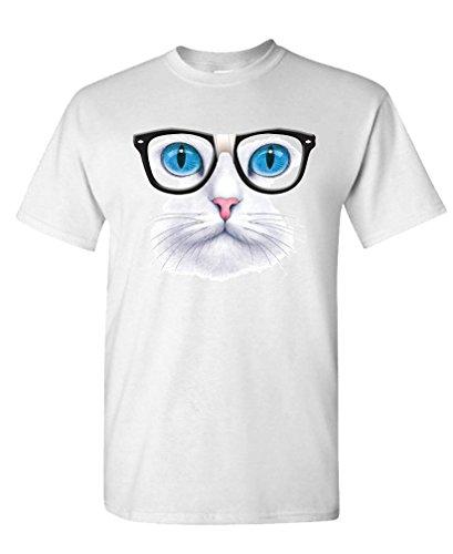 NERD GLASSES kitty kitten horn