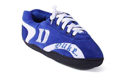 DUK05-9 - Duke Blue Devils - Toddler Large - Happy Feet Mens and Womens All Around Slippers (Devils Feet Comfy)