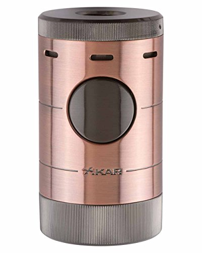 - Volta Quad Flame Tabletop Cigar Lighter in an Attractive Gift Box Warranty Bronze