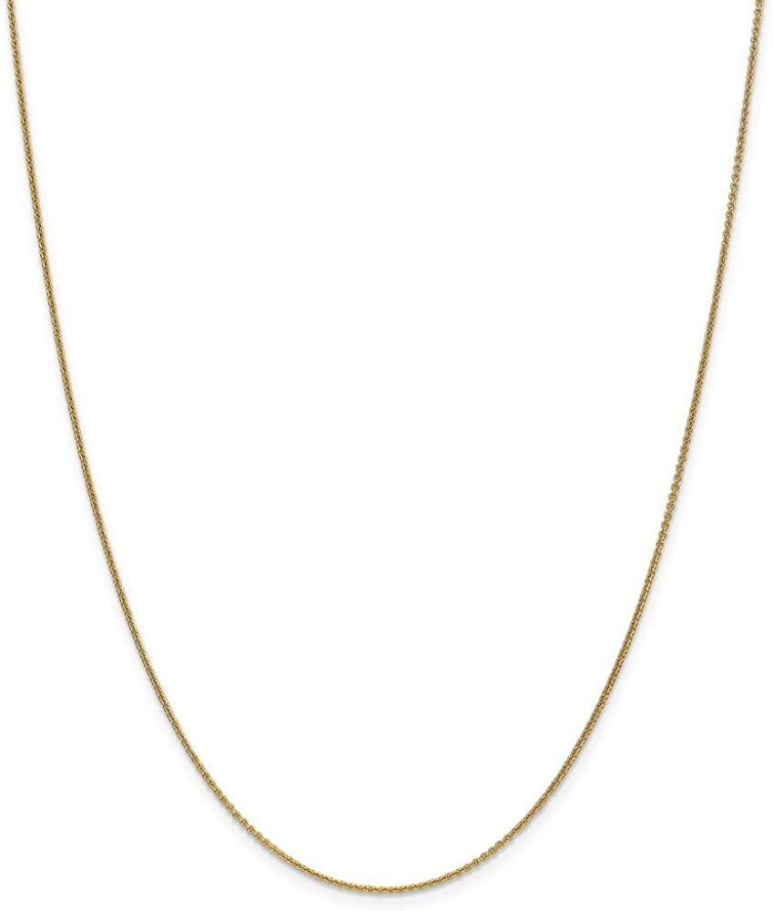 18k 1.15mm Sparkle-Cut Cable Chain Necklace 16 18 20 Length Options