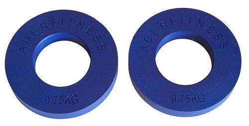 Olympischen Fraktionierte Teller pair- .75 kg Blau von Ader Sporting Goods
