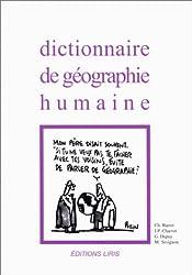 Dictionnaire géographie humaine