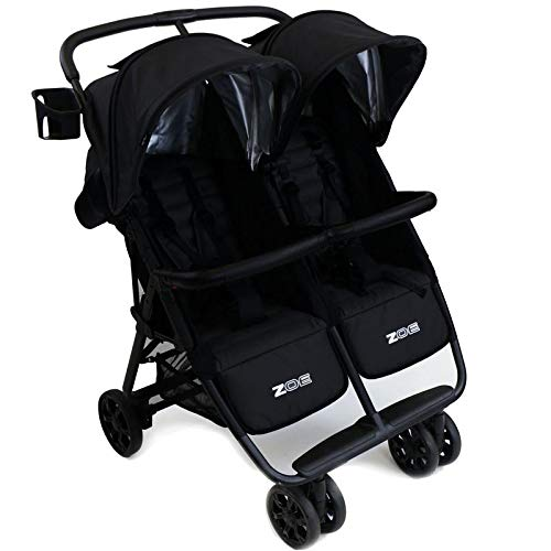 ZOE XL2 Best Double Stroller - Everyday Twin Stroller with Canopy