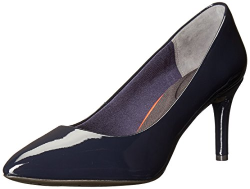 Rockport Women's TM75MMPTH Plain Dress Pump, Deep Ocean Patent, 6 W (Plain Womens Pumps)