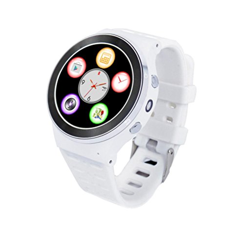 RTYou New S99 GSM 3G Quad Core Android 5.1 Smart Watch GPS WiFi Bluetooth 8GB (White) by RTYou