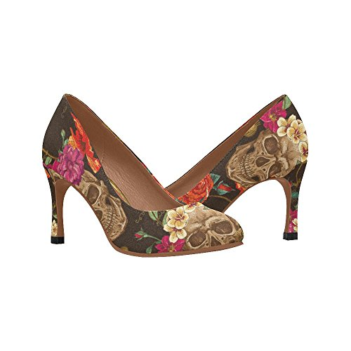 Shoes InterestPrint Heel Dress Multi Womens Pump High Fashion 9 wqqaPf