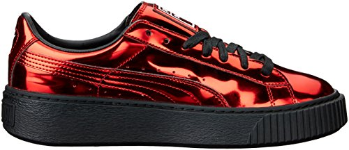Moda Sneaker 5 Metallizzata Uk Puma Da Donna Con Di Red Formula 3 High Plateau Marrone Risk Uxqfpgx