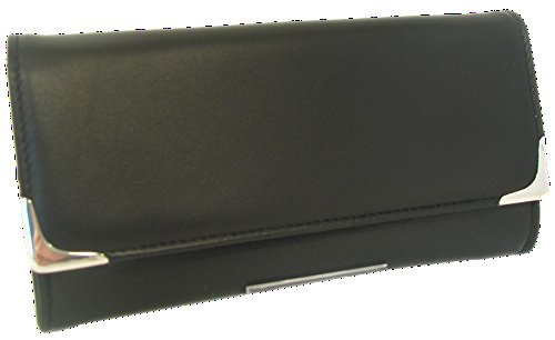 Martin Wess Silverline Metis Nappa Leather Large Stand Up Tobacco Pouch with 925 Sterling by Martin Wess