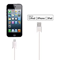 Retractable Lightning Cable [Apple MFi Certified], 3.3 Feet, 8 Pin Lightning to USB Sync Cable Charging Cord for iPhone 7, 7 Plus, 6s, 6s Plus, 6, 6 Plus, iPad Pro 12.9, 9.7, iPad Air, iPad Mini, iPod