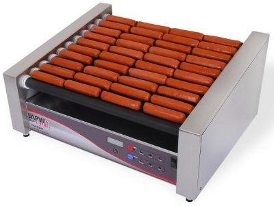 APW Wyott HRSDI-50S 765 Hot Dog (Per Hour) Capacity (10) Slanted Tru-Turn Rollers XPERT HotRod Hot Dog Grill