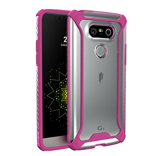 (LG G5 Case, POETIC Affinity Series Premium Thin/No Bulk/Protection Where its Needed/Clear/Dual Material Protective Bumper Case for LG G5 (2016) Pink/Clear)
