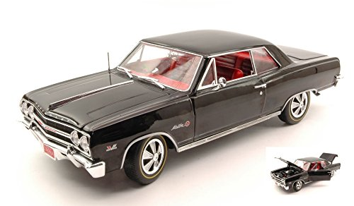 CHEVY CHEVELLE Z-16 1965 nero 1 18 Auto World Auto Stradali modello modellino die cast