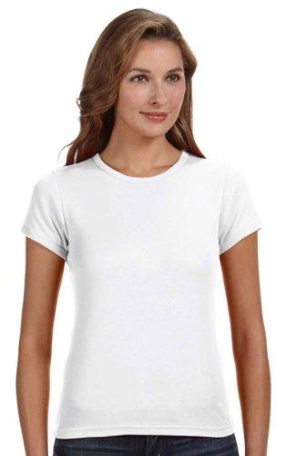 Anvil Cap Sleeve T-shirt (Anvil Women's Double Needle Cap Sleeve Scoop T-Shirt, White, XL ( Pack of 10 ))