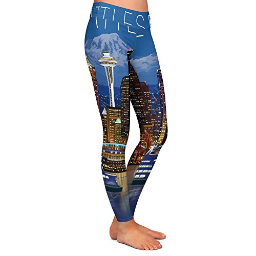 Athletic Yoga Leggings from DiaNoche Designs by Lantern Press - Seattle -