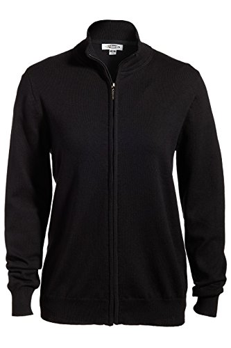 Edwards-Elliesox Ladies Full Zip Cardigan Sweater XL Black 064 - Ladies Full Zip Cardigan Sweaters