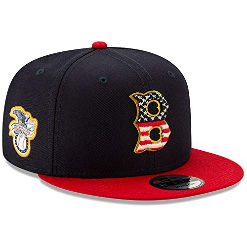 - New Era Boston Red Sox 2019 Stars & Stripes 4th of July 950 9FIFTY Snapback Adjustable Cap Hat