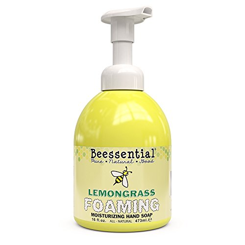 (Beessential All Natural Foaming Hand Soap, Lemongrass Essential Oils, Made with Moisturizing Aloe & Honey - Made in the USA, 16 oz)
