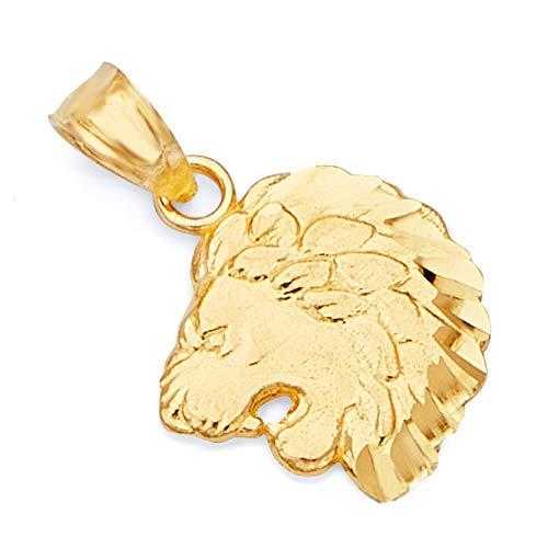 Size : 25 x 15 mm GoldenMine 14k Tri Color Gold CZ Guadalupe Medal Pendant