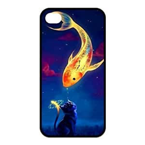 Custom Fish Design TPU Case Protector For Iphone 4 4S
