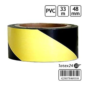 Einzigartig 33 Meter Absperrband Kennband schwarz / gelb Warnband  UJ27