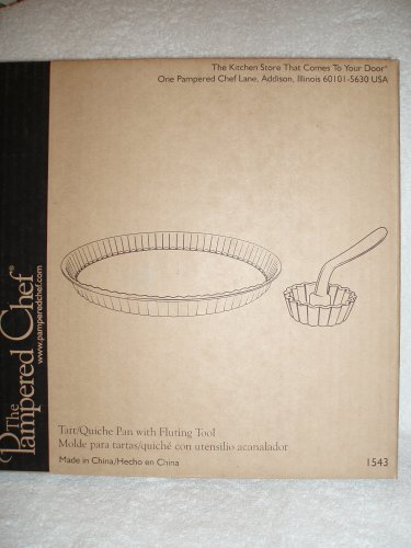 The Pampered Chef Tart/Quiche Pan with Fluting Tool