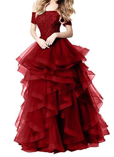 Festliche Damen Abendkleider Violett Weinrot Kleider Charmant ...