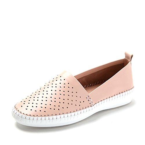 Primavera zapatos calados de aire/Fija los pies zapatos/Zapatos de comodidad plana mujer Rosa
