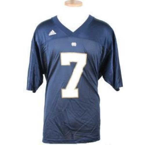 Notre Dame Fighting Irish Replica Adidas Fb Jersey - Navy #7 - Men - XL (Jersey Dame Adidas Notre)