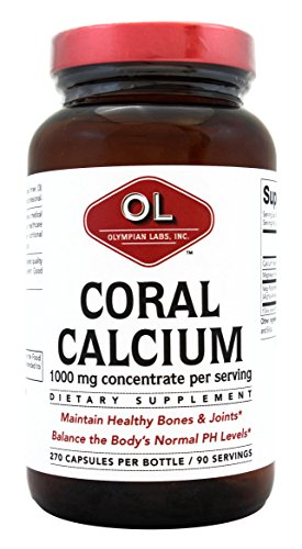 Olympian Labs Coral Calcium, 1g Per Serving, 1000 mg, 270 Capsules For Sale