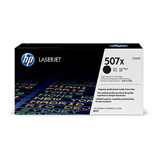 HP 507X (CE400X) Black High Yield Toner Cartridge for HP LaserJet Enterprise 500 551 570 575