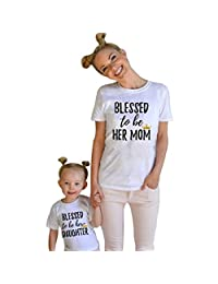 Mommy and Me, Tenworld Short Sleeve Mother Daughter Matching T-shirt Tops