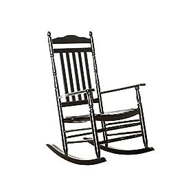 B&Z Rocking Chair Wood Porch Rocker Slat Carve...