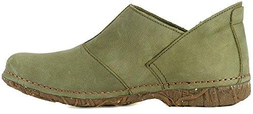 Elastico El Mujer N919 Zapatos Pleasant Naturalista Kaki Verde Verde Angkor qpcwFCqB