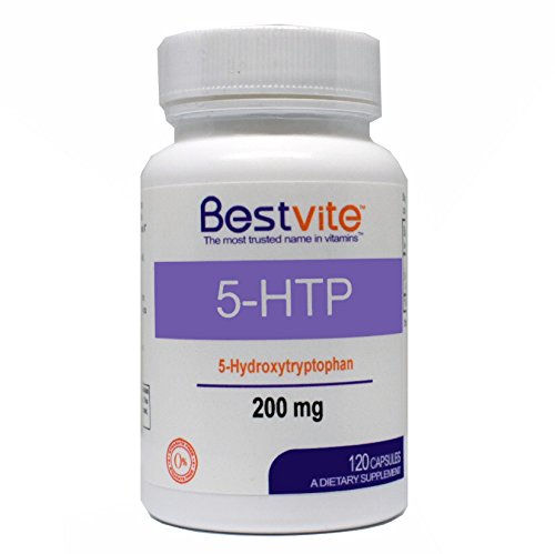 5-HTP 200mg (120 Capsules) - No Stearates or Flow Agents