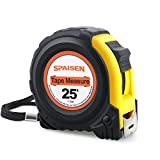 SPAISEN Tape Measure 25-Feet (7.5m), Inches and Metric Measuring Tape For Construction, Home Use, DIY,Heavy Duty Nylon Bonded Blade and Auto Lock
